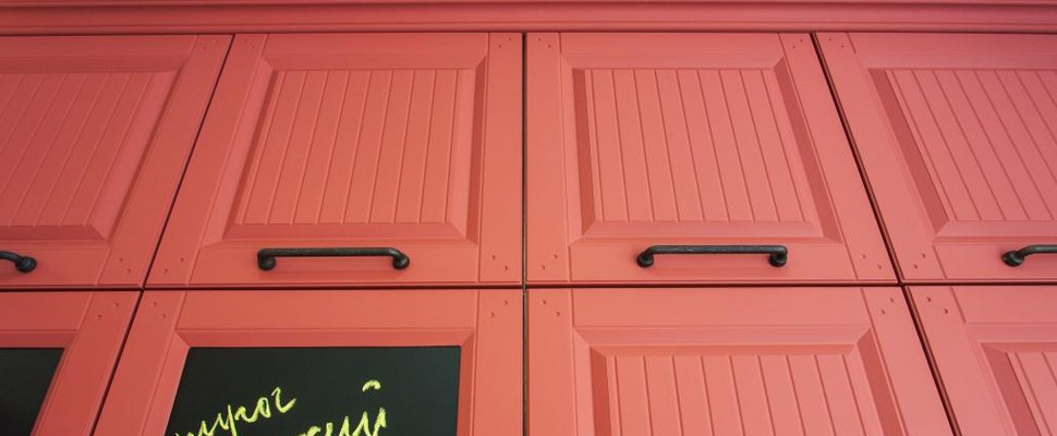 Фасад для кухни из термопластика и эмали